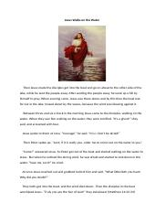 Jesus Walks on the Water-Miracle 3.docx