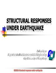 GE1313 Week 05 Structural responses under earthquake
