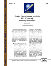 Trade, protectionism, and the us economy
