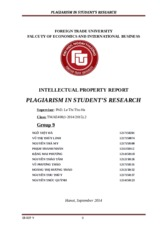 Plagiarism in student's research