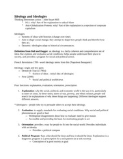 Political Science 1020E First Term Notes (Jones)