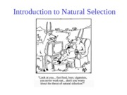 Topic 4, Introduction to Natural Selection
