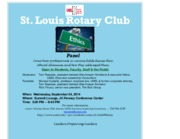 St. Louis Rotary Club Ethics Panel 9-24-14