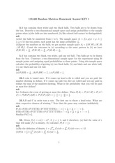 MATH 460 Fall 2010 Assignment 1 Solutions