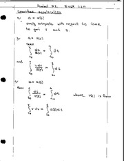 Lecture Notes on Specified Accelerations