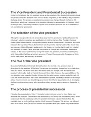 american government The Vice President and Presidential Succession