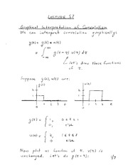 Properties of Convolution review