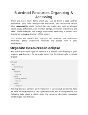 6.Android Resources Organizing & Accessing