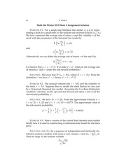 Math 366-1 Winter 2015 Week 8 Assignment Solution