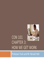 Chapter 3  How We Get Work