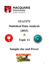 Lecture 11 STAT171 notes