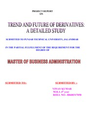FINANCIAL DERIVATIVES MARKET