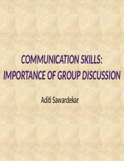 10-08-2010-Communication Skills & Importance of Group Discussion
