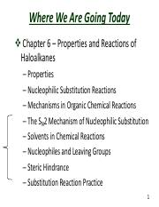 Slides  Chapter 6 Properties and Reactions of Haloalkanes