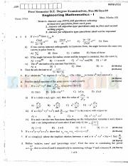 (www.entrance-exam.net)-VTU, Bangalore 1st Semester Physics Cycle- Engineering Mathematics-I Sample