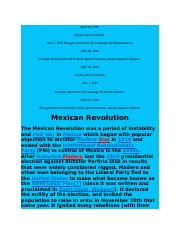 IB History of the Americas Mexican Revolution READINGS AND LINKS W QUESTIONS.docx
