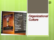 Chapter 6 - Organizational Culture