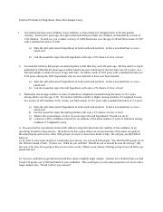Practice Problems for Hypothesis Tests
