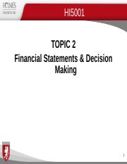 Topic 2B Financial Statements & Decision Making 2016 v.1.ppt