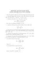 Midterm Exam Solution on Advanced Calculus 2