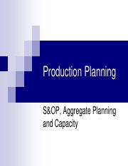PM 04- S&OP Aggregate Planning and Capacity