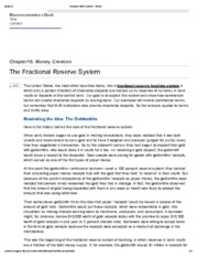 2. The Fractional Reserve System