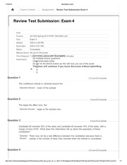 PSYC 354 Review Test Submission Exam 4