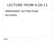 SMGT 4330 Lecture Notes EmergencyAction Alcohol Plan Spring 2011