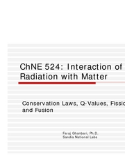 Conservation Laws etc ChNE 524