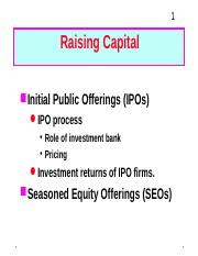 Investment banking firms ipo