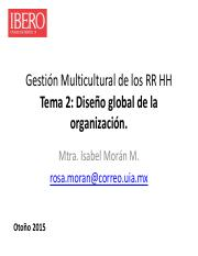 Una Estructura Matricial Global Es Similar Pero En El Caso
