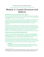 Module 3 Crystal Structure and Defects Report template_02