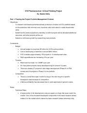 project portfolio management xyz pharma case study