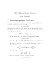 Midterm Review Solutions
