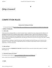 Competition Rules - European Rover Challenge