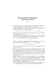 Research Methods in Mathematics Homework1 Solutions