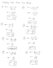 two point slope notes