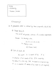 Lecture notes probability and RV