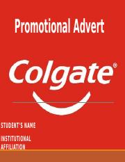 Colgate Promotional AD.pptx