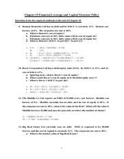 FNCE2000_Chapter19_Financial_Leverage_&_Capital_Structure_Policy_Solutions_revised (1)