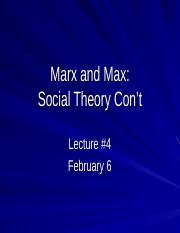 2017 Lecture 4 Finish Marx Weber.ppt