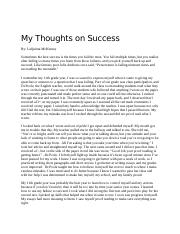 My Thoughts on Success.docx