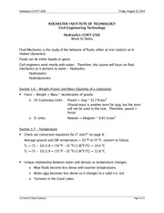 Hydraulics Lecture Notes 1