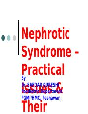 Nephrotic syndrome by Sir Younas sahib.ppt
