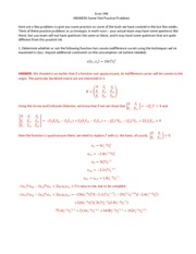 ANSWERS Exam 1 Practice Problems