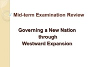 Mid-term Examination Review