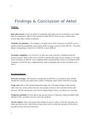 Findings of Aktel.docx