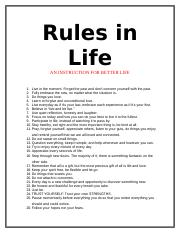 Rules in Life V2.docx
