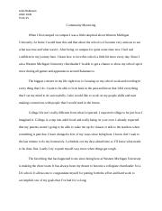 Reflection Paper #1 Bronco First