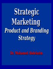 6- Product and Branding Strategy
